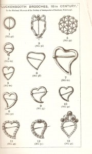 One of the illustrations of Luckenbooth brooches from Rabon's lecture