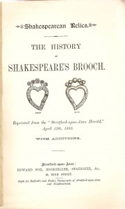 The history of Shakespeare's brooch
