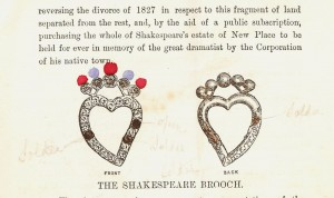 Details of the brooch, coloured by my grandfather