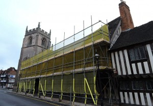 The Guild Hall undergoing conservation