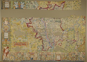 The Sheldon tapestry map of Worcestershire