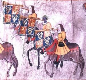 John Blanke among Henry VIII's trumpeters
