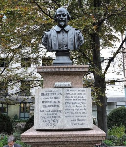 The monument to Heminges and Condell