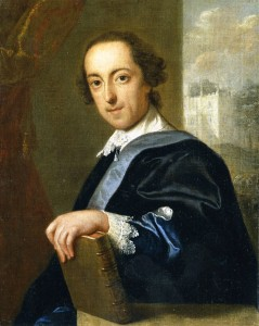 Horace Walpole, looking rather like Shakespeare in a portrait by Eccardt