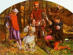 Holman Hunt's painting of Valentine Rescuing Silvia from Proteus