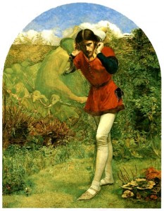 Millais' painting Ferdinand lured by Ariel