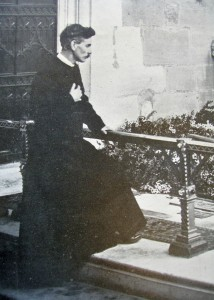 My grandfather at Shakespeare's grave, April 1920