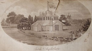 Garrick's Jubilee Amphitheatre, illustrated by Robert Bell Wheler in 1806