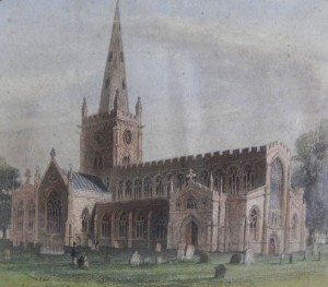 A nineteenth century engraving of Holy Trinity Church