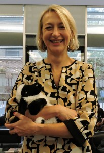Sharon Little, Freeman of London, and her sheep