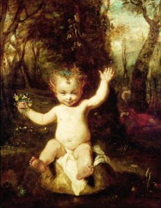 Joshua Reynolds' painting of Puck, from A Midsummer Night's Dream
