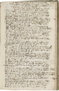 A page of Henry Oxinden's Miscellany, from the Folger Shakespeare Library
