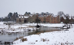 Charlecote Park in the snow