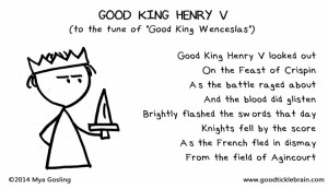 Good Tickle Brain Henry V carol