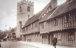 The grammar school and Guild Chapel around 1910