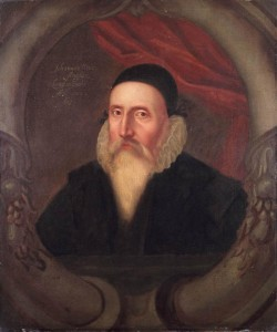 Portrait of John Dee, at the Ashmolean Museum Oxford