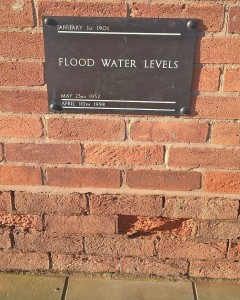 Flood water levels in Stratford-upon-Avon