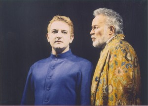 Simon Russell Beale as Ariel, Alec McCowen as Prospero, RSC 1993