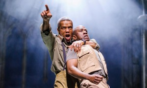 Hugh Quarshie as Othello and Lucien Msamati and Iago, RSC 2015
