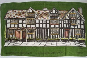 Tibor Reich tea towel of the Birthplace