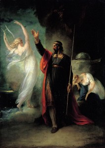 William Hamilton's painting of Prospero and Ariel