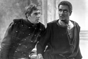 Frank Finlay as Iago and Laurence Olivier as Othello