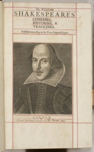 The copy of the First Folio bought by Prince George