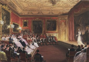 Haghe's painting of the Royal Family attending a performance of Macbeth at Windsor