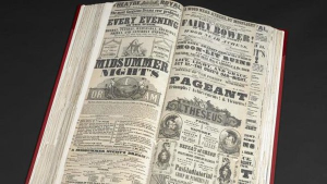 a volume of playbills from the British Library