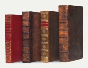 The four folios being sold by Christie's