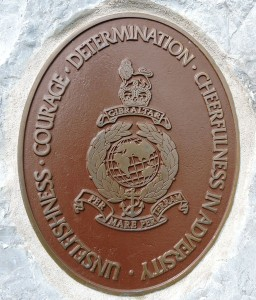 The plaque on the back of the Gibraltar Stone
