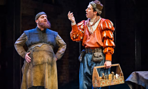 The Shoemaker's Holiday, Swan Theatre 2014-5, RSC. Photo by Tristam Kenton. David Troughton as Eyre and Josh O'Connor as Lacy