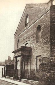 The 1827 theatre in Chapel Lane, around 1860