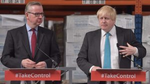 Michael Gove and Boris Johnson on the campaign trail