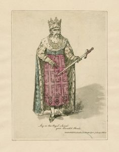 Edmund Kean as Richard II. Francis Raymond played Aumerle. Image from Folger Shakespeare Library