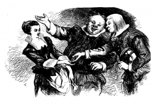 The Dalziel brothers' version of the scene from Twelfth Night