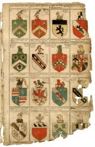 One of the newly-discovered documents showing Shakespeare's Coat of Arms
